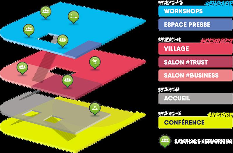 Map des locaux du HUFORUM