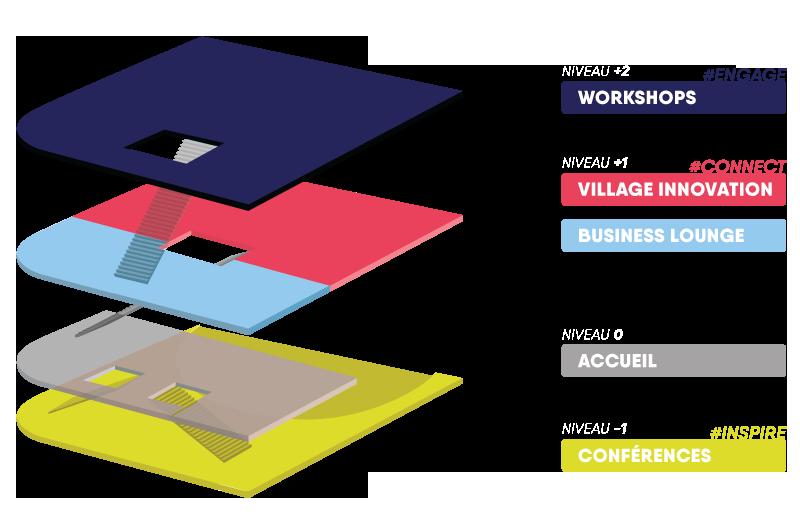 Map des locaux du HUB Forum